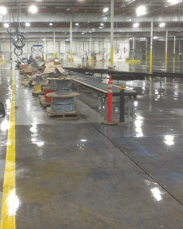 how to clean warehouse floor