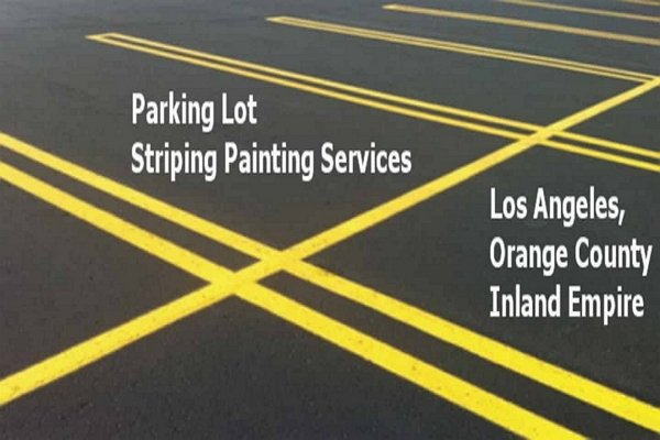 Parking lot line strip painting Orange County