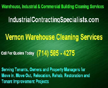 complete Vernon Industrial building deep cleaning services